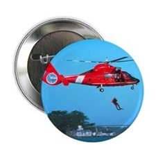 "Coast Guard Chopper 2.25"" Button"