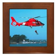 Coast Guard Chopper Framed Tile