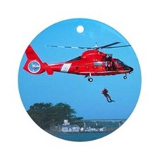 Coast Guard Chopper Ornament (Round)