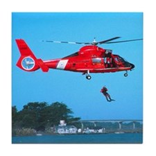 Coast Guard Chopper Tile Coaster