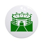 Green Stadium Ornament (Round)