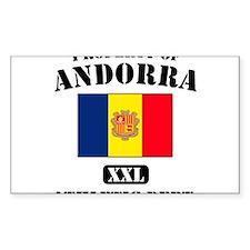 Property of Andora Athletic D Sticker (Rectangular