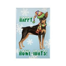 Holiday Min Pin Rectangle Magnet