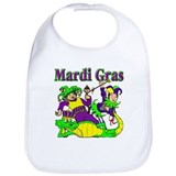 Mardi Gras Jesters and Gator Bib