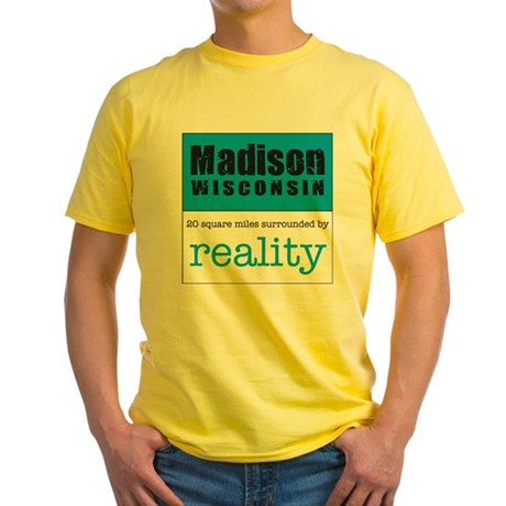 Madison Wisconsin surrounded Yellow T-Shirt