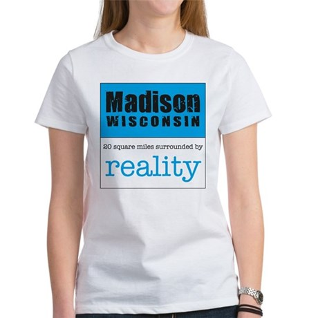 Madison Wisconsin surrounded Women's T-Shirt