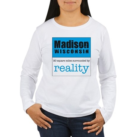 Madison Wisconsin surrounded Women's Long Sleeve