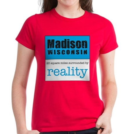 Madison Wisconsin surrounded Women's Dark T-Shirt