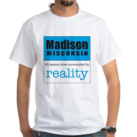 Madison Wisconsin surrounded White T-Shirt