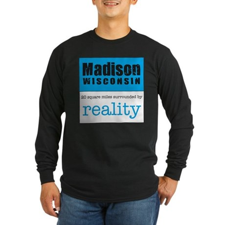 Madison Wisconsin surrounded Long Sleeve Dark T-S