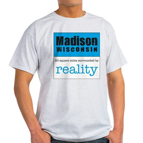 Madison Wisconsin surrounded Light T-Shirt