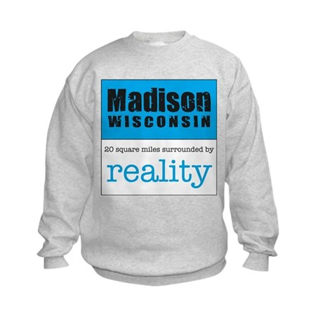 Madison Wisconsin surrounded Kids Sweatshirt