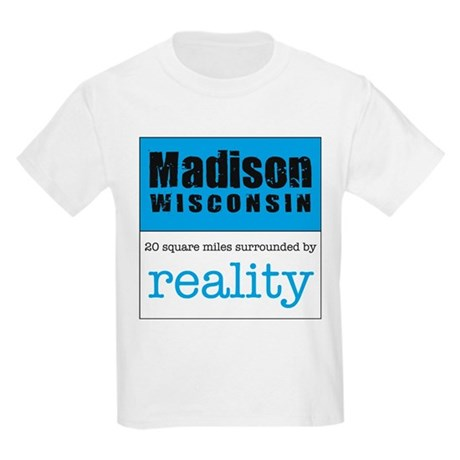 Madison Wisconsin surrounded Kids Light T-Shirt
