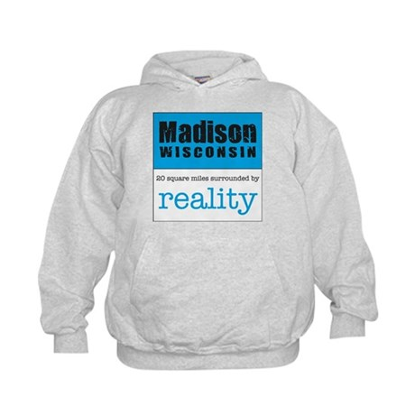 Madison Wisconsin surrounded Kids Hoodie