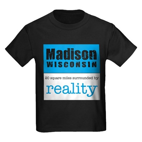 Madison Wisconsin surrounded Kids Dark T-Shirt