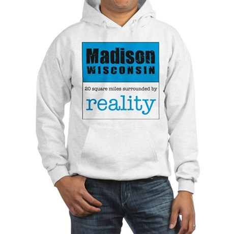Madison Wisconsin surrounded Hooded Sweatshirt