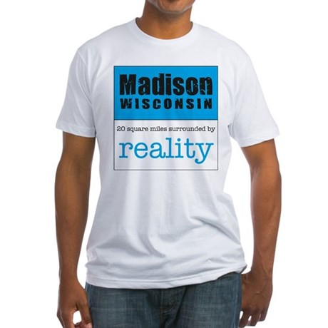 Madison Wisconsin surrounded Fitted T-Shirt