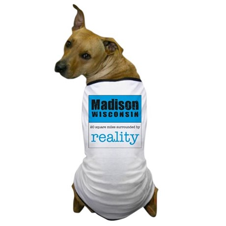 Madison Wisconsin surrounded Dog T-Shirt