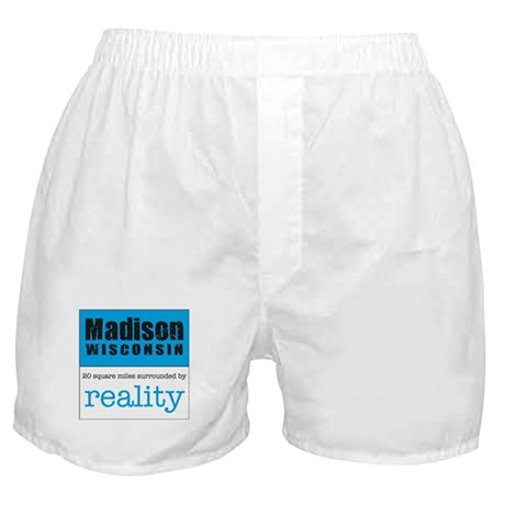 Madison Wisconsin surrounded Boxer Shorts