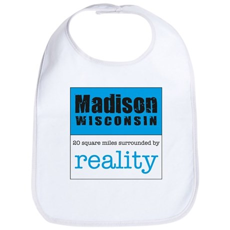 Madison Wisconsin surrounded Bib