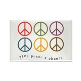 Give Peace a Chance - 6 Signs Rectangle Magnet (10
