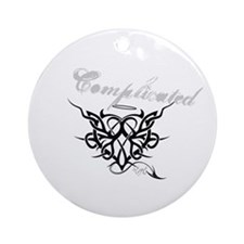 Complicated Heart Ornament (Round)