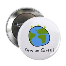 "Peas on Earth! 2.25"" Button"