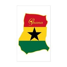 Cool Ghana Rectangle Decal