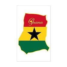 Cool Ghana Rectangle Decal
