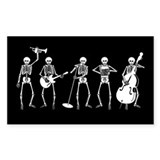 Jazzy Skeleton Quintet Rectangle Decal