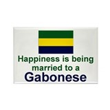 Gabon-Happily Married Rectangle Magnet