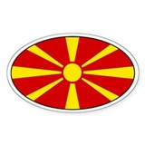 Macedonian stickers Oval Decal