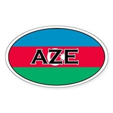 Azerbaijani Decals Oval Decal