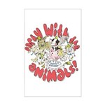 PARTY WITH THE ANIMALS Mini Poster Print