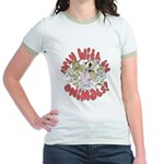 PARTY WITH THE ANIMALS Jr. Ringer T-Shirt