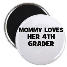 Mommy Loves Her 4th Grader Magnet