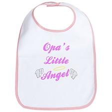 Opa's Little Angel (Girl) Bib
