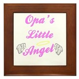 Opa's Little Angel (Girl) Framed Tile