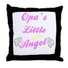 Opa's Little Angel (Girl) Throw Pillow