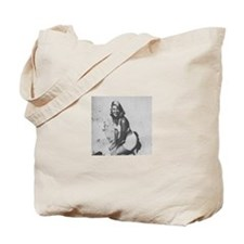 Sylvia Plath w/ original poetry knitter's Tote Bag