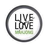 Live Love Mahjong Wall Clock