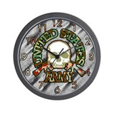 United States Army Skull Wall Clock