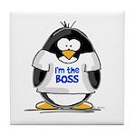 I'm the Boss Penguin Tile Coaster