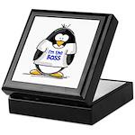 I'm the Boss Penguin Keepsake Box