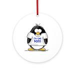 I'm the Boss Penguin Ornament (Round)