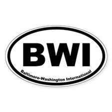 Baltimore-Washington International Oval Decal