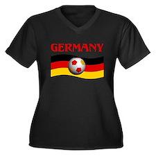 TEAM GERMANY WORLD CUP Women's Plus Size V-Neck Da