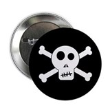 "Skull & Crossbones 2.25"" Button"