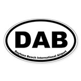 Daytona Beach International Airport Oval Decal