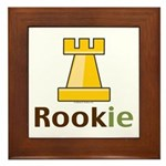 Rook Rookie Chess Piece Framed Tile